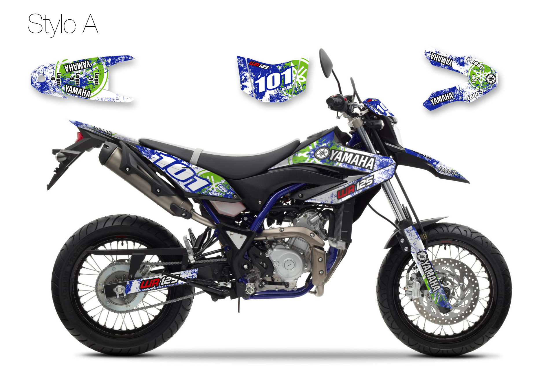 WR125X GRAPHICS STICKERS TO FIT YAMAHA WR 125 X GRAPHIC KIT 09-18 DECAL KIT 125X