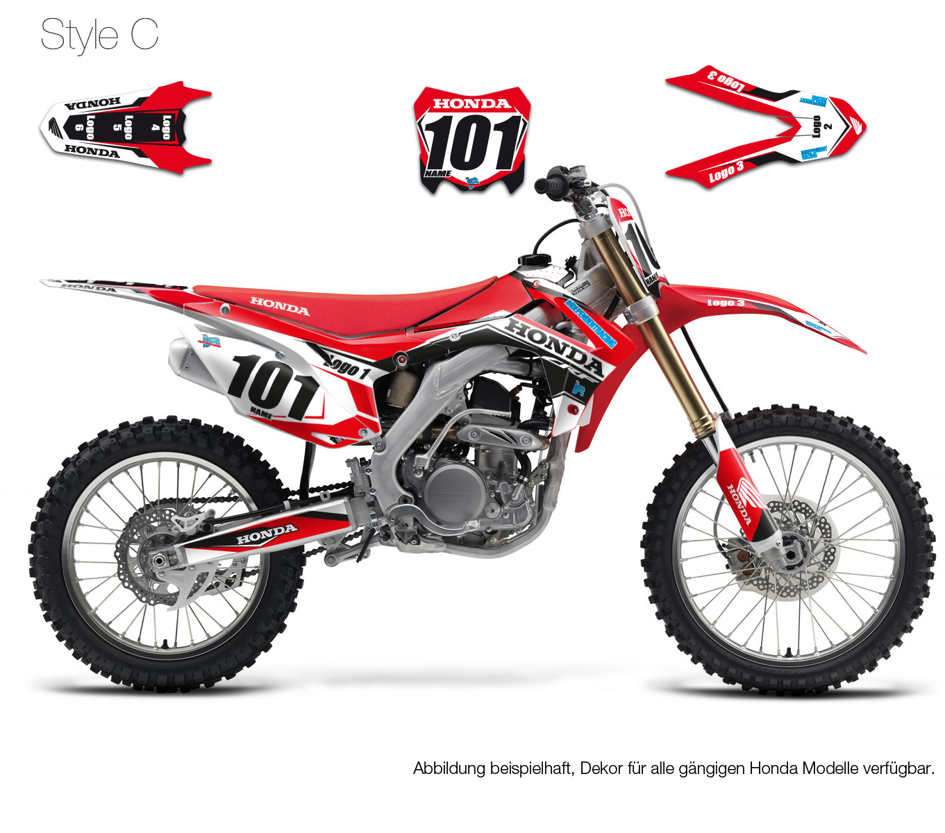 Motocross Dekor Honda Stock1