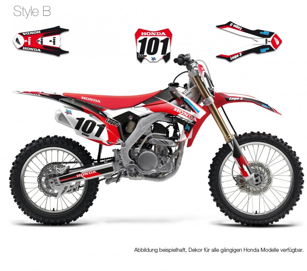 motocross decal honda stock2. Black Bedroom Furniture Sets. Home Design Ideas