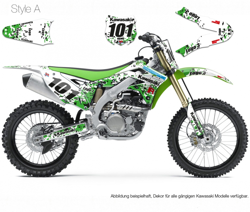 Motocross Dekor Kawasaki Stock3